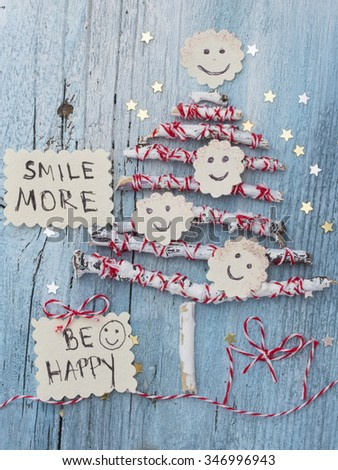 Be Happy, Christmas wish - stock photo