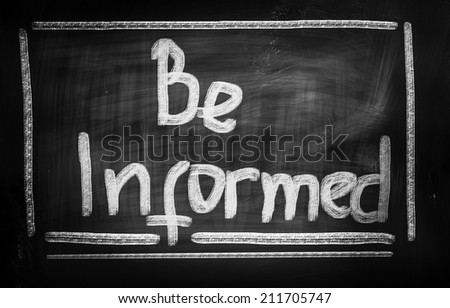 Be Informed Concept - stock photo