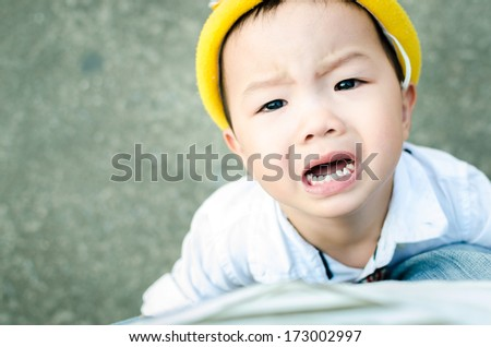 be irritable baby - stock photo