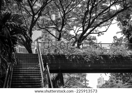 Be shady Pedestrian bridge - stock photo