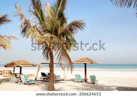 Beach, Ajman, UAE - stock photo
