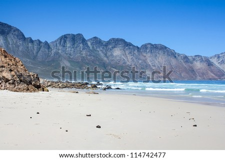 Beach along south africa's coastline at the indian ocean - stock photo