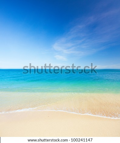 beach and tropical sea. Koh Samui, Thailand - stock photo