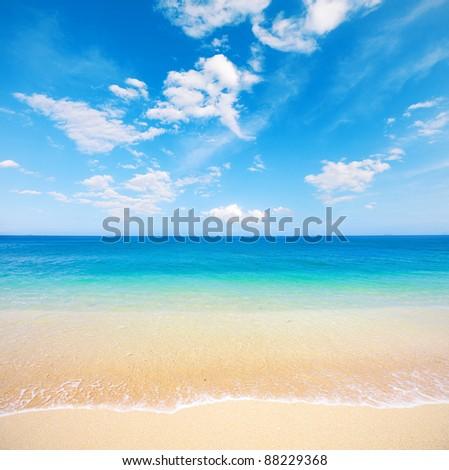 beach and tropical sea. Koh Samui, Thailand - stock photo