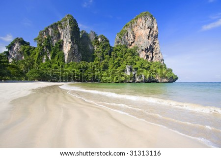 Beach at Krabi, Thailand - stock photo