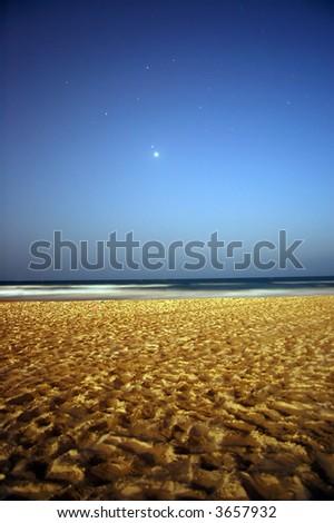 beach at night - stock photo