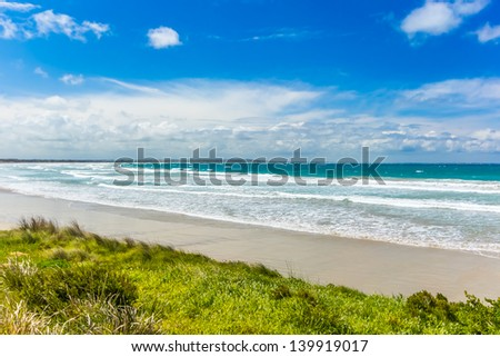 Beach at Port Fairy, Melbourne - stock photo