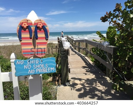 Beach attitude for beach wedding - stock photo