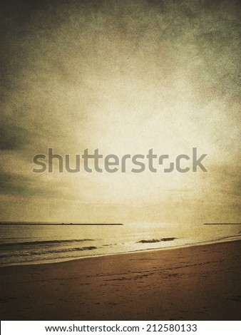 beach background in vintage style - stock photo