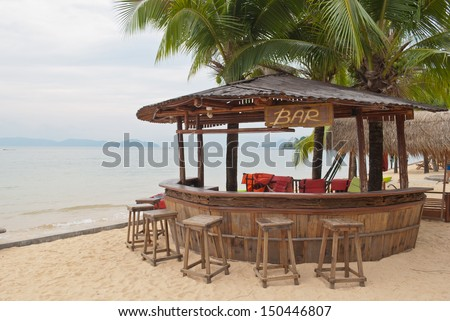 Beach bar - stock photo