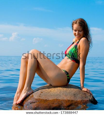 Beach Bliss Beauty  - stock photo