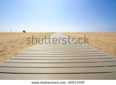 Beach Boardwalk - stock photo