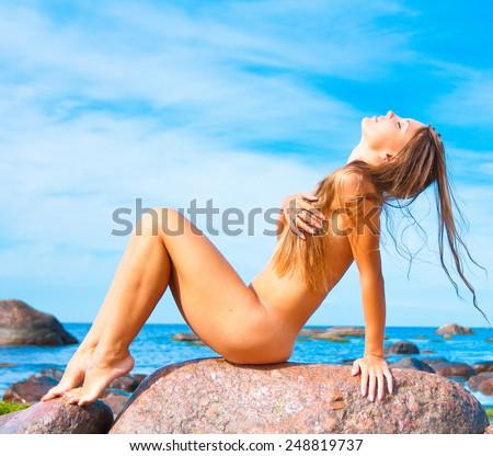 Beach Body Woman  - stock photo