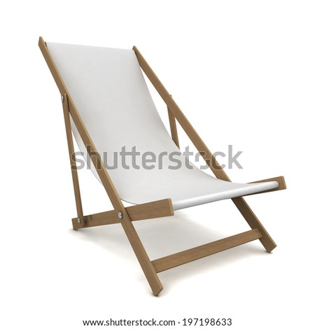 Beach chair. 3d illustration isolated on white background  - stock photo