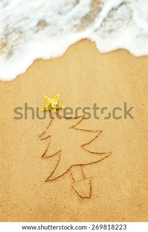 Beach Christmas - stock photo