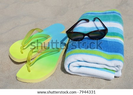 Beach gear - stock photo