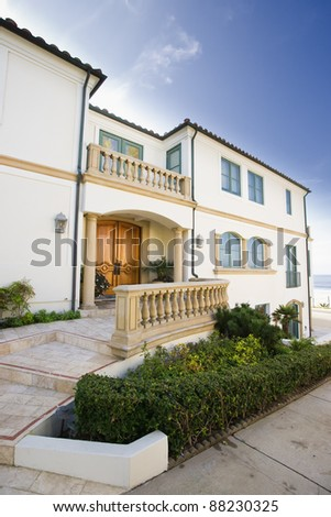 Beach Home Exterior - stock photo