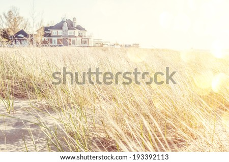 Beach house - stock photo