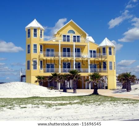 beach house Florida - stock photo