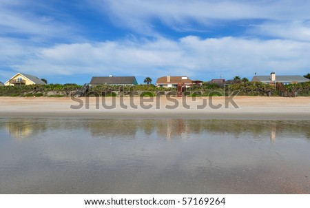 Beach houses in St. Augustin - stock photo