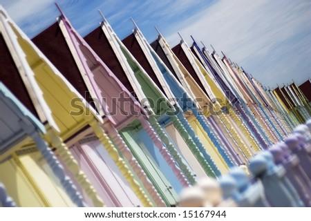Beach Hut Facade - stock photo