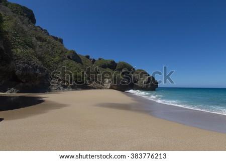 Beach in Aguadilla, Puerto Rico - stock photo