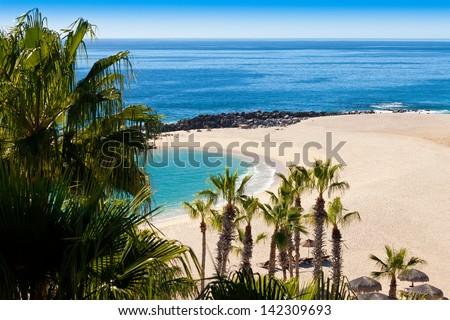Beach in Cabo San Lucas, Mexico - stock photo