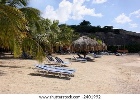 beach in Curacao - stock photo