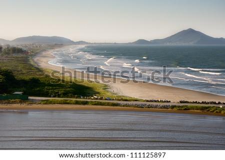 Beach in Itajai, Brazil. - stock photo