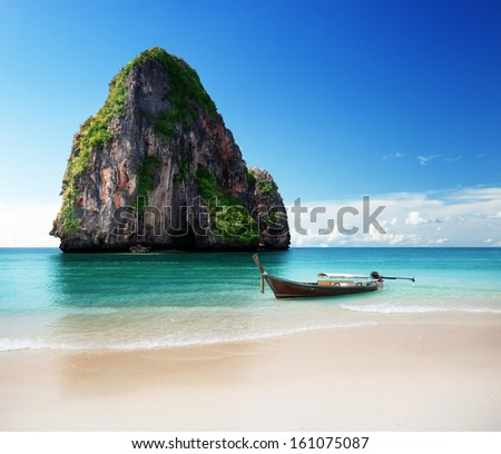 beach in Krabi province, Thailand  - stock photo