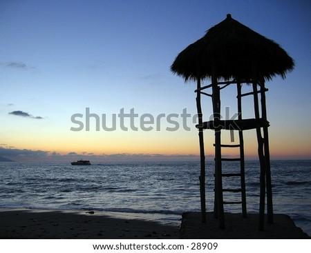 Beach in Puerto Vallarta, Mexico - stock photo