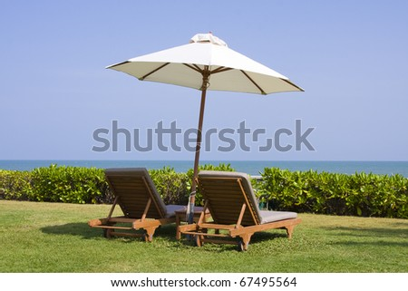 Beach in Thailand - stock photo