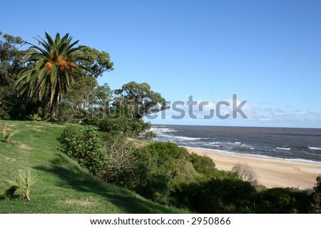 Beach in Uruguay - stock photo