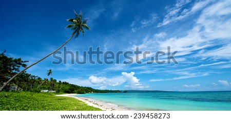 Beach Landscape in Boracay Island in the Philippines. - stock photo