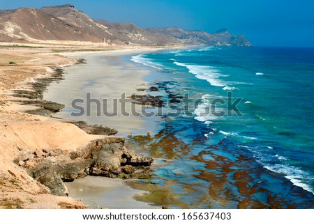 Beach near Al Mughsayl, Salalah, Oman  - stock photo