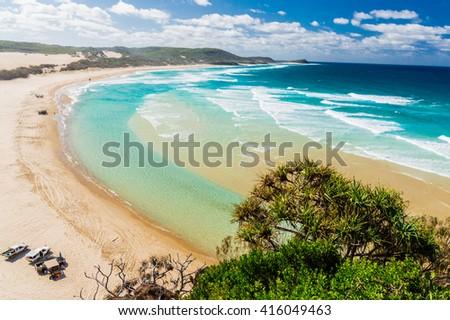 Beach of Fraser Island IV - stock photo