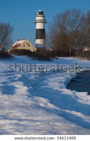 Beach of Kiel, Germany, in wintertime - stock photo