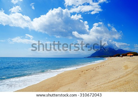beach of Orosei Sardinia - stock photo