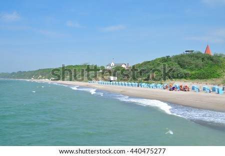Beach of Rerik at Baltic Sea in Mecklenburg western Pomerania,Germany - stock photo