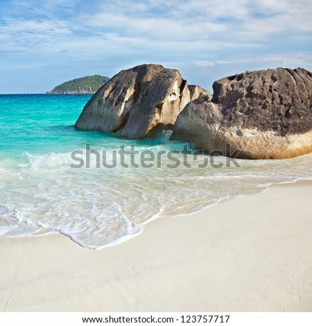 Beach of Similan Islands, Koh Miang, National Park - stock photo
