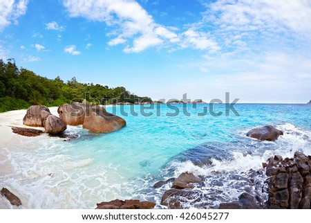 Beach of Similan Islands, Koh Miang, National Park  - stock photo