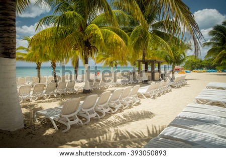 Beach on Cozumel Island, Mexico - stock photo
