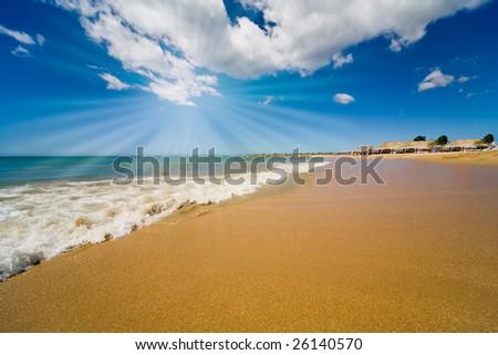 Beach on island Margarita, Venezuela - stock photo
