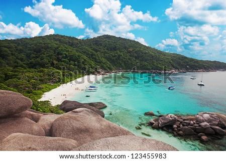 beach on the island of Similan - stock photo