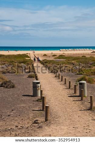 Beach on the ocean - stock photo
