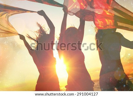 Beach, Party, Summer. - stock photo