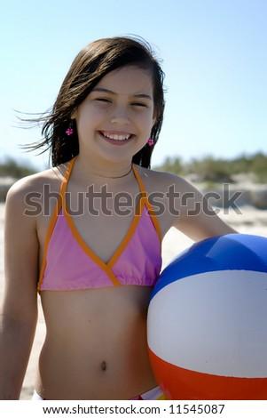 Beach portrait - stock photo