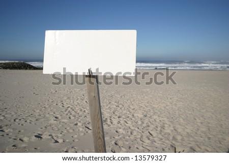 beach publicity in blue sky - stock photo