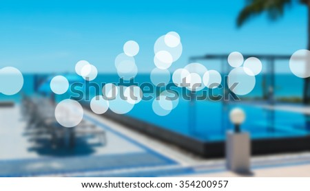 beach resort concept and bokeh. - stock photo
