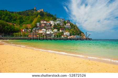 Beach San Sebastian, Spain - stock photo